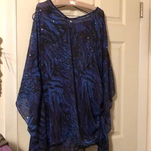 Joan Rivers lightweight cape with bling